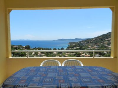 Photo for LAVANDOU / AIGUEBELLE - MAGNIFICENT SEA VIEW. STUDIO WELL EQUIPPED.