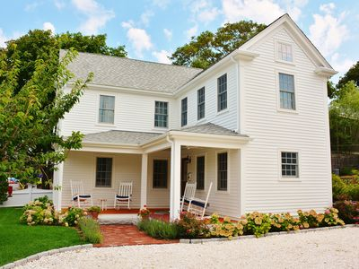 Photo for Elegant Secluded Farmhouse in Town Center & 2 Blocks to Beach!