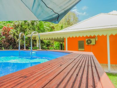 Photo for Caribbean sea view villa with pool