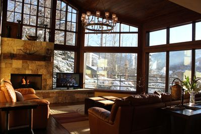 Living Room with The Endless Views of Vail, and The Rocky Mountains