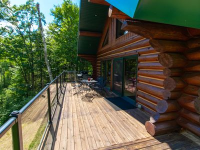 Photo for Snowmobilers & Skiers Full Scandinavian Log Home On Private Lake