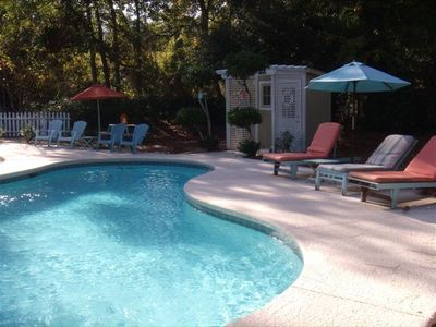 Photo for UNCROWDED BEACH , 35' PRIVATE POOL, PET FRIENDLY, SPACIOUS HOME!