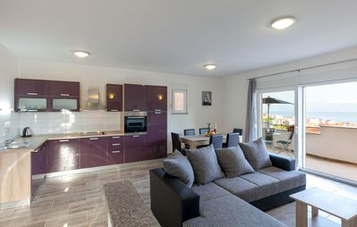 Photo for Sea view apartment close to the beach