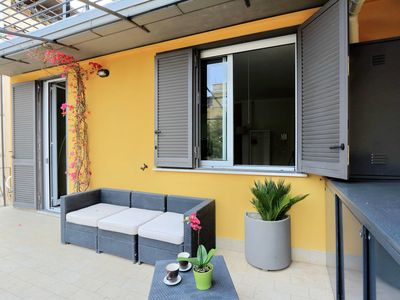 Photo for Urbano 5  apartment in Valle Aurelia with WiFi, integrated air conditioning & private terrace.