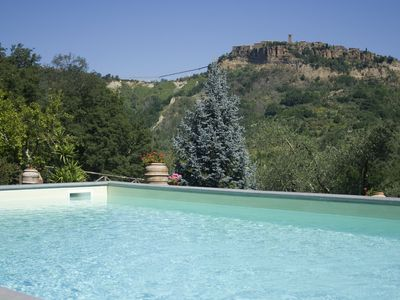 Photo for villa with pool in civita di bagnoregio