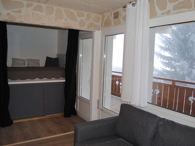 """Photo for Les Deux Alpes Center Station F2 43m2 with """"Clair Soleil"""" facing South with terrace"""