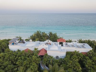 Beautiful Sandy Beachfront Villa w Rooftop Spa  Tulum  Sian Ka'an