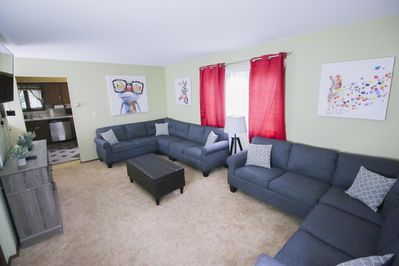 Cozy Living room with 55 inch smart tv