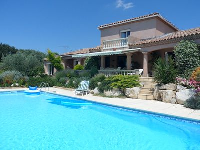 Photo for villa of 210 m2, large swimming pool, garden, breathtaking view, old olive groves