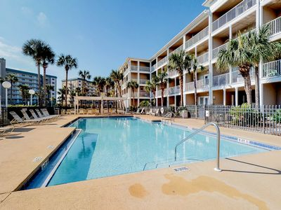 Photo for Snowbird-friendly condo w/ a balcony & shared pool - just steps to the beach!