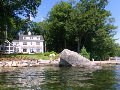 Photo for Lakefront Home with Stunning Views on Lake Winnipesaukee