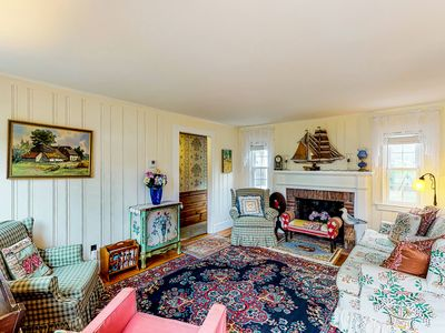 Photo for Picture-perfect cottage with outdoor patio - walk to Grey Neck Beach!