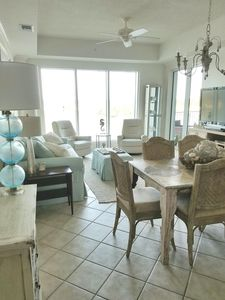 Dining area thru to living room. Great view of intracoastal  waterway!
