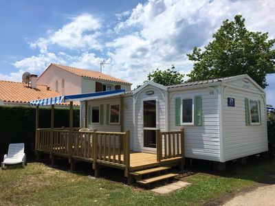 Photo for Three Bedroom Mobile Home With Decking