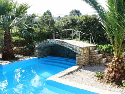 Photo for Trizonia House - Stunning luxury villa with sea view and private pool
