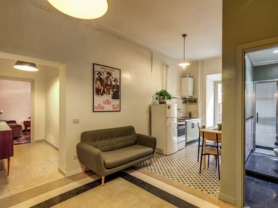 Photo for Newly refurbished maintaining original vintage style 2bedroom apartment in the heart of Trastevere