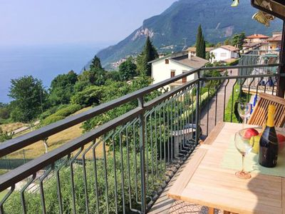 Photo for quiet, comfortable apartment with a beautiful lake view, large balcony