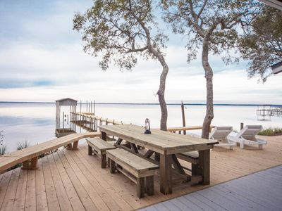 Photo for A Beautiful Retreat Right on East Bay- Sunsets, Boat Ramp, Fishing....