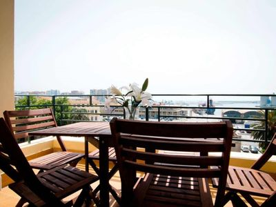 Photo for Three-Bedroom Apartment with Terrace and Sea View