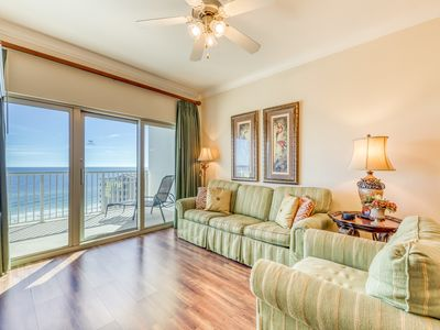 Photo for Gulf view condo w/ outdoor & indoor pools, hot tub, lazy river & beach access!