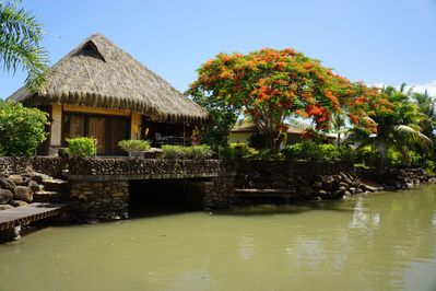 The house sits on this marina, a short paddle to the lagoon