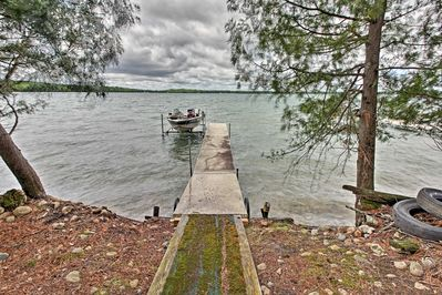 It features a private dock with a boat slip for a 17-foot boat!