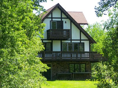 Photo for Old Country-style lodging nestled between 2 lakes. Sportsman's paradise!