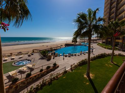 Photo for Best Views on Sandy Beach! 2nd Floor Ocean Front Luxury Condo at Sonoran Sky