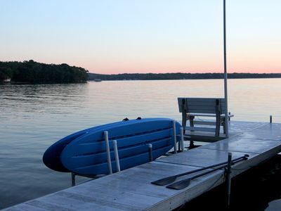 Photo for Lake Home on a Peninsula. Enjoy upper and lower deck w/hot tub and fire table.