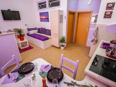 Photo for Cosy Apartment In Soft Purple Colours Places In The Heart Of Portorož