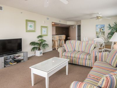 Photo for Ocean front four bedroom corner unit with great views of the beach!