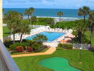 Photo for Oceanfront View - Beside the Cocoa Beach Pier - Large Heated Pool