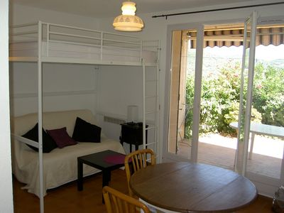 Photo for Studio located in Carqueiranne ground floor sea view near the beaches