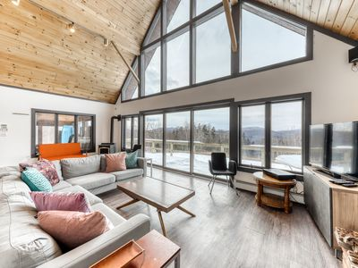 Photo for Stunning dog-friendly home w/ free WiFi, wood-burning fireplace, & mountain view