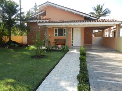 Photo for House ample, comfortable, swimming pool, churrasq. Wi-Fi, Cond Address of the Beach -