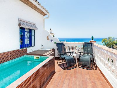 Photo for This 2-bedroom villa for up to 4 guests is located in Nerja and has a private swimming pool, air-con