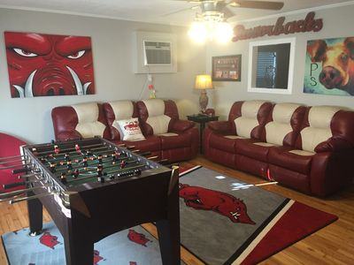 Photo for Razorback Retreat! Custom Razorback House! Available for UofA Graduation!
