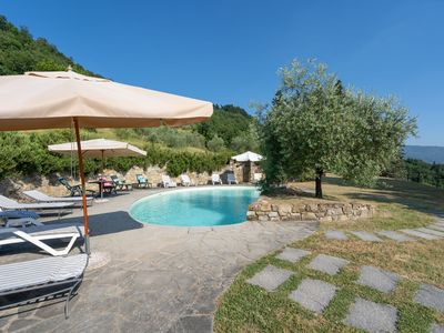 Photo for Wonderful private villa with WIFI, private pool, TV, patio, pets allowed, panoramic view and par...
