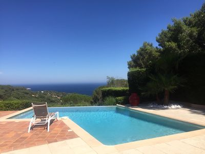 Photo for Very pretty villa with sea view and infinity pool L'Escalet