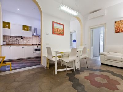Photo for Augusto Valenziani apartment in Via Veneto with WiFi, integrated air conditioning, balcony & lift.
