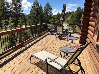Front deck with furniture.