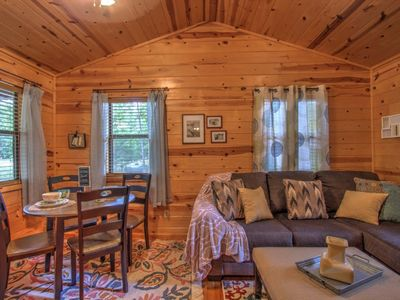 Photo for JAKE'S PLACE-1 night stays! $115 weekdays-Cozy Renovated 1 Bdr Cabin, Jacuzzi Tub, walk to dining!