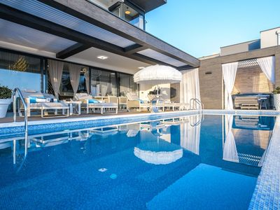 Photo for Beautiful modern and luxurious villa with an enchanting view of the sea and big pool