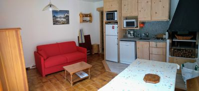 Photo for T3, 2 ch, 36 m2, fully renovated in 2019, 4 min walk to the ski resort.