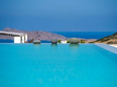 Photo for 4 stars 3 bedroom luxury villa Simplicity in  Paros with views of the endless seductive blue color of the Aegean sea