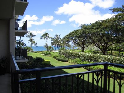 Partial ocean view from the lanai