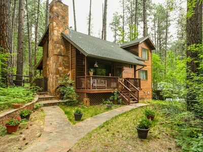 Photo for New! Cozy Cabin Nestled in the Heart of Oak Creek, minutes from trails