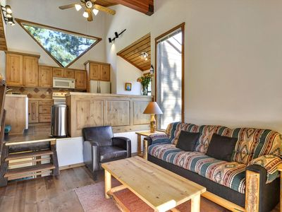 Photo for Pet-Friendly Modern Cabin with a PRIVATE HOT TUB and PRIVATE SAUNA INSIDE the house. Incredible views of Juniper Mountain and close to Alpine Meadows, Squaw and Tahoe City. BONUS - Free Activities Daily!