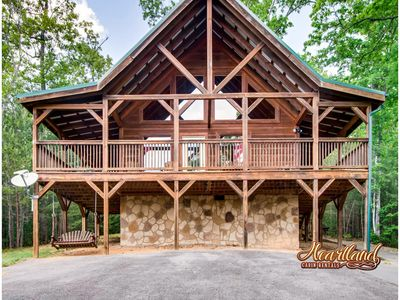 Photo for Mountain Breeze Cabin is a perfect romantic getaway for 2 or a great vacation cabin