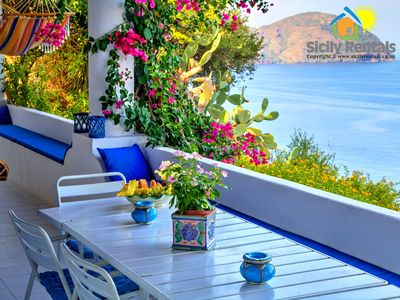 Photo for Beautiful villa in Aeolian style with stunning panoramic sea view